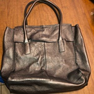 Banana Republic unlined satchel tote metallic